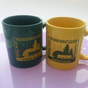 Harrison Lake State Park Coffee Cups Green/Gold